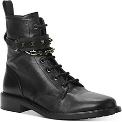 Valentino Garavani Women's Studded Strap & Chain Combat Boots found on Bargain Bro India from bloomingdales.com for $1295.00