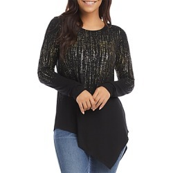 Karen Kane Printed Asymmetric Top found on Bargain Bro from Bloomingdales Canada for USD $52.84