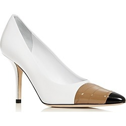 Burberry Women's Annalise Cap-Toe Pumps found on Bargain Bro India from bloomingdales.com for $750.00