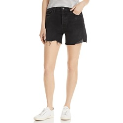 Grlfrnd Jourdan Cotton Frayed Denim Shorts in G1106 found on MODAPINS from bloomingdales.com for USD $158.00