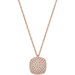 Bloomingdale's Diamond Pave Cushion Pendant Necklace in 14K Rose Gold, 0.33 ct. t.w. - 100% Exclusive found on Bargain Bro UK from Bloomingdales UK