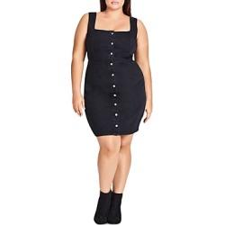 City Chic Plus Sleeveless Denim Dress