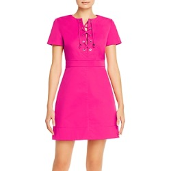 Paule Ka Cotton-Stretch Lace-Up Mini Dress found on MODAPINS from Bloomingdales UK for USD $551.55