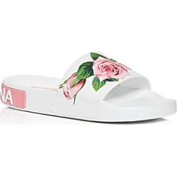 Dolce & Gabbana Women's Floral Pool Slide Sandals found on Bargain Bro India from bloomingdales.com for $295.00