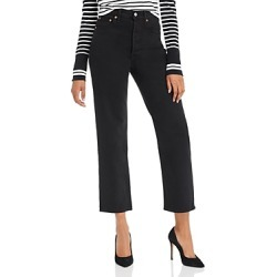 Levi's Ribcage Straight Ankle Jeans in Black Heart found on MODAPINS from bloomingdales.com for USD $55.13