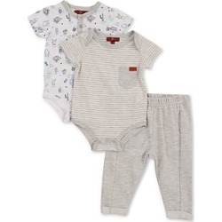 7 For All Mankind Boys' 3-Piece Onesies & Pants Set - Baby