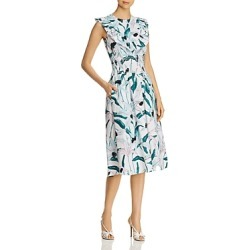 Tory Burch Ruffle-Trimmed Printed Dress found on Bargain Bro UK from Bloomingdales UK