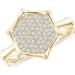 Natori 14K Yellow Gold Diamond Hexagon Statement Ring found on Bargain Bro India from bloomingdales.com for $1380.00