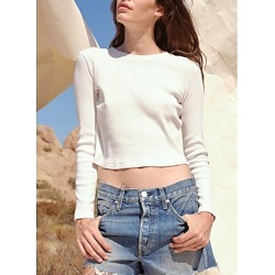 Amo Cropped Ribbed Top found on MODAPINS from Bloomingdales Canada for USD $116.02
