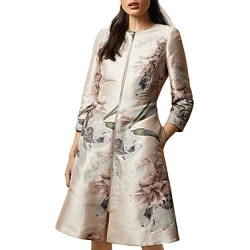 Ted Baker Coniiey Woodland-Print Dress Coat