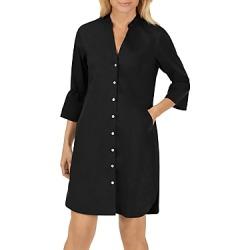 Foxcroft Nolan Bell-Sleeve Shirt Dress
