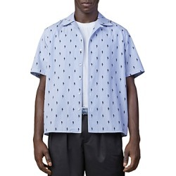 Neil Barrett Thunderbolt Print Relaxed Fit Camp Shirt found on MODAPINS from bloomingdales.com for USD $495.00