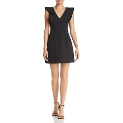 French Connection Whisper Ruffled V-Neck Mini Dress found on MODAPINS from Bloomingdale's Australia for USD $108.54