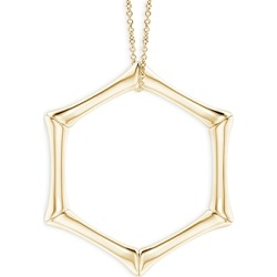Natori 14K Yellow Gold Small Bamboo Look Pendant Necklace, 14-17 found on Bargain Bro India from bloomingdales.com for $950.00