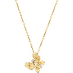Bloomingdale's Diamond Butterfly Pendant Necklace in 14K Textured Yellow Gold, 0.05 ct. t.w. - 100% Exclusive found on Bargain Bro UK from Bloomingdales UK