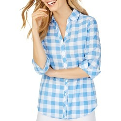 Foxcroft Dara Gingham High/Low Shirt