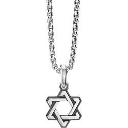 David Yurman Sterling Silver Deco Star of David Pendant