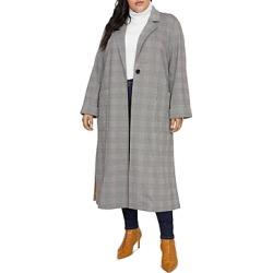 Sanctuary Curve Glen-Plaid Long Coat