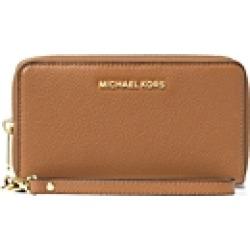 Michael Michael Kors Multi-Function Flat Large Pebble Leather Smartphone Wristlet
