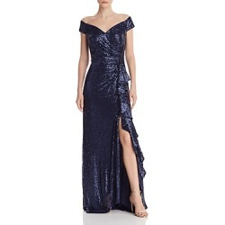 Tadashi Shoji Off-the-Shoulder Sequined Ruffle Gown found on Bargain Bro Philippines from Bloomingdale's Australia for $123.32