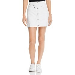 7 For All Mankind Asymmetric-Front Denim Skirt in Prince St found on MODAPINS from Bloomingdales UK for USD $176.32
