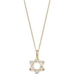 Bloomingdale's Diamond Star of David Pendant in 14K Yellow Gold, 0.10 ct. t.w. - 100% Exclusive found on Bargain Bro UK from Bloomingdales UK