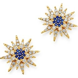 Bloomingdale's Blue Sapphire & Diamond Starburst Earrings in 14K Yellow Gold - 100% Exclusive found on Bargain Bro Philippines from Bloomingdales Canada for $1373.71