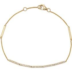 Bloomingdale's Diamond Bracelet in 14K Yellow Gold, 0.20 ct. t.w. - 100% Exclusive found on Bargain Bro UK from Bloomingdales UK