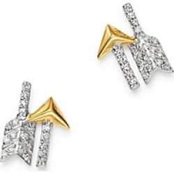 Bloomingdale's Diamond Arrow Stud Earrings in 14K Yellow & White Gold, 0.8 ct. t.w. - 100% Exclusive found on Bargain Bro Philippines from Bloomingdale's Australia for $740.91
