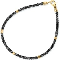 Lagos Gold & Black Caviar Collection 18K Gold & Ceramic Rope Bracelet found on Bargain Bro India from Bloomingdales Canada for $786.68