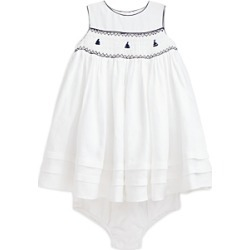 Polo Ralph Lauren Girls' Smocked Linen Anchor Dress - Baby found on Bargain Bro from bloomingdales.com for USD $95.00