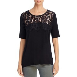 Kim & Cami Lace-Yoke Top