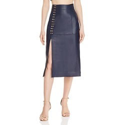 Alice McCall Sweet Street Leather Midi Skirt found on MODAPINS from Bloomingdales UK for USD $505.82