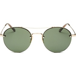 Garrett Leight Men's Beaumont Brow Bar Rimless Round Sunglasses, 53mm found on MODAPINS from bloomingdales.com for USD $390.00