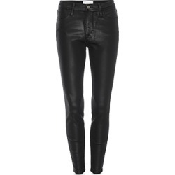 Frame Le High Coated Skinny Jeans in Noir Coated found on Bargain Bro from Bloomingdales Canada for USD $191.24