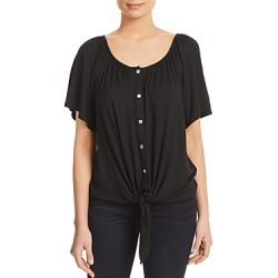 Kim & Cami Short-Sleeve Tie-Front Top