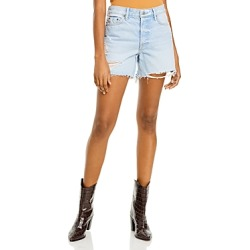 Grlfrnd Jourdan Distressed High Rise Cutoff Shorts in Say It First found on MODAPINS from Bloomingdales Canada for USD $176.30