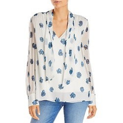 Jason Wu Floral Print Tie Neck Top found on MODAPINS from bloomingdales.com for USD $395.00