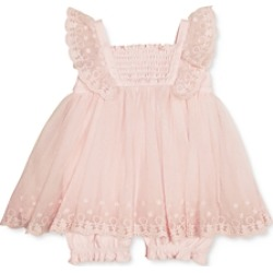Miniclasix Girls' Ruffled Dress Romper - Baby found on Bargain Bro India from bloomingdales.com for $62.00