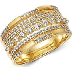 Bloomingdale's Diamond Multi Row Band in Satin Finish 14K Yellow Gold, 0.60 ct. t.w. - 100% Exclusive found on Bargain Bro UK from Bloomingdales UK