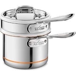 All Clad Copper Core 2 Quart Saucepan with Double Boiler & Lid found on Bargain Bro Philippines from Bloomingdale's Australia for $286.61