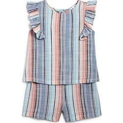 Splendid Girls' Striped Ruffled Romper - Baby found on Bargain Bro India from bloomingdales.com for $27.60