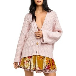 Free People Molly Cable Knit Cardigan found on MODAPINS from bloomingdales.com for USD $148.00