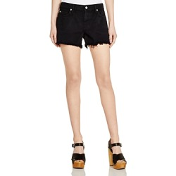 7 for All Mankind Denim Cutoff Shorts in Black found on Bargain Bro UK from Bloomingdales UK