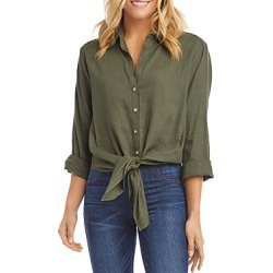 Karen Kane Tie-Front Button-Up Shirt found on Bargain Bro Philippines from bloomingdales.com for $90.30