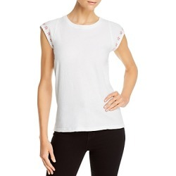 Sundry Star Embroidered Top