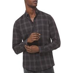 Michael Kors Men's Cotton Melange Plaid Slim Fit Button Down Shirt found on Bargain Bro UK from Bloomingdales UK