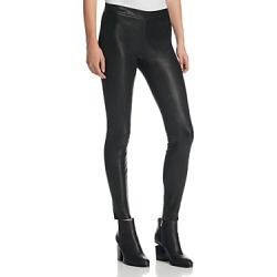 J Brand Mid Rise Leather Leggings in Black found on MODAPINS from Bloomingdale's Australia for USD $705.40