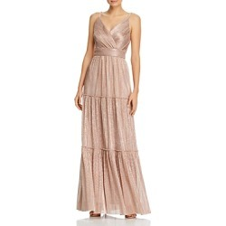 Aqua Metallic V-Neck Gown - 100% Exclusive found on MODAPINS from Bloomingdales UK for USD $124.82