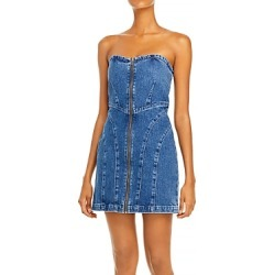 Grlfrnd Isabella Strapless Denim Mini Dress in Out of Sight found on MODAPINS from bloomingdales.com for USD $268.00